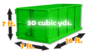 30 cubic yard Burnaby dumpsters for rent. Large disposal bins